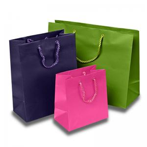 China Matte Colored Jewelry Gift Bags Aqueous Coating Technics For Shopping on sale