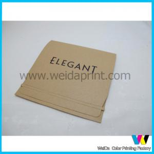 China Gold foil brown self seal custom printed envelopes for business office on sale