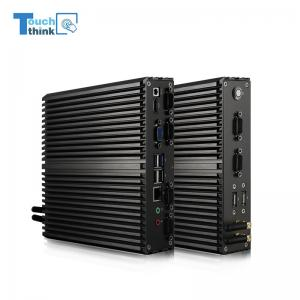 China TouchThink Fanless Industrial mini PC J1900 2GDDR3 32GSSD Wifi 6USB, 6COM RS232 Mater case Used in workingshop on sale