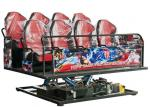 Color Customized VR Gaming Machine 7D Simulator Cinema 6 Seats VR Motion Simulator