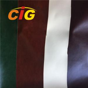 China Nonwoven Backing 0.8mm Plain Color PVC Artificial Leather For Book Cover on sale