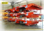 Assembly Line Steel Motorized Transfer Trolley / Electric Transfer Cart Carriage