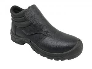 China Artificial All Leather Steel Toe Boots , Comfortable Steel Toe Work Shoes For Men on sale