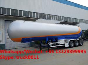 China customized best price 56cbm bulk propane gas tanker semitrailer for sale, HOT SALE! road transported lpg gas tanker on sale