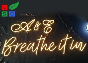 China Warm White, Cool White Customized LED Neon Flex Letter Sign For Restaurant And Stores on sale
