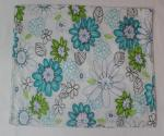 Floral Cotton / Nonwoven Dining Table Mats with Silk Screen Printing