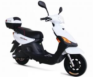 China White or Blue Customized electric motor scooter bike / motorbike for Commuter , Leisure , Shopper on sale