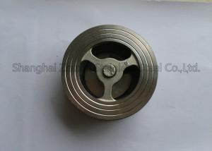 China PN16 PN25 CF8 Wafer Check Valve Stainless Steel Fittings Dual Plate One Direction API DIN BS on sale