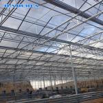 Multi Span Venlo Type Greenhouse / PC Polyethylene Film Greenhouse Sides Ventilation