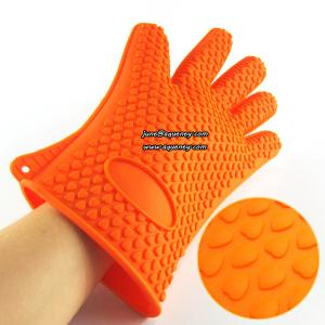 China Custom Fingers Silicone Gloves Silicone Rubber Gloves various color in stock on sale