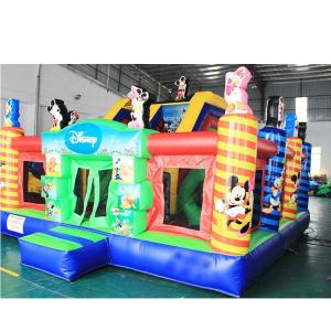 China Waterproof Inflatable Castle Bouncer , Lovely Mickey Mouse Inflatable Bouncer on sale