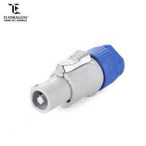 China 3 Pin Locking Type PBT Plug Cable Powercon Circular Connector for LED Screen on sale