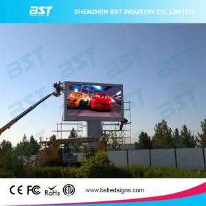 China P6 Full Color Large Outdoor Advertising LED Display Video High Resolution on sale