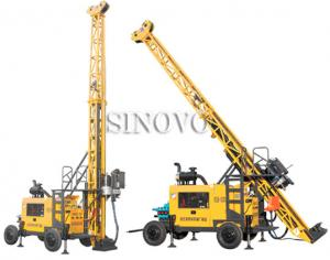 China Full hydraulic-mounted Geological Drilling Rig Diesel Engine With Flexible Operating System on sale