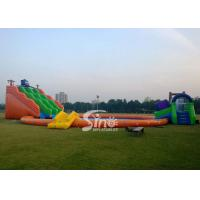 Kids N adults giant inflatable water park on land with big inflatable swimming pool N big octopus slide