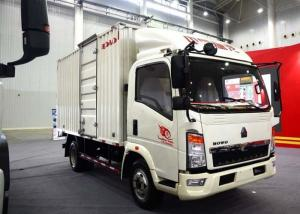 China Light Duty Commercial Trucks / Delivery 17 Foot Box Truck With Low Fuel Consumption on sale