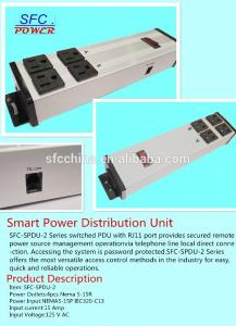 China Through RJ11 telephone line secured remote power power distribution unit outlets working on sale