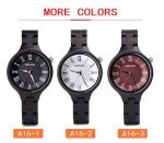 3ATM Retro Quartz Wooden Watches With Custom Logo Ebony Wood Timepieces
