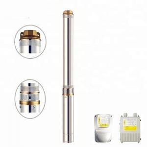 China 3hp stainless steel submersible vertical shaft deep well water pump on sale