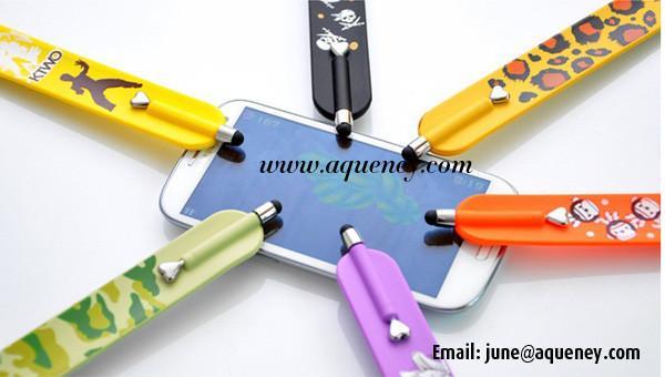 Whole Silicone Stylus Touch Pen Slap Bracelet Band Images