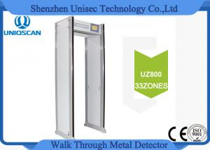 China 33 Independent Zones Security Walk Through Metal Detector Body Scanner Remote Control on sale