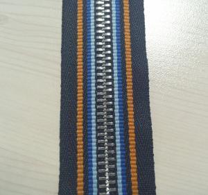 China cremallera metálica 5# con la cinta especial, cremallera de la moda de China, cinta de la cremallera con 4 colores on sale