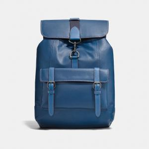China Factory Outdoor Hiking Backpack PU Leather Backpacks 14 Laptop Bag for Young Boy Fashion Handbag in 3 color with buckle on sale