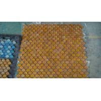Yellow Glass Stone Mosaic fanshaped Yellow Style With 256x290MM