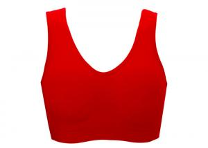 China Fabulous Red Wireless Soft Sports Bra for Full-busted Comfortable on sale