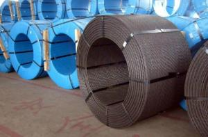 China hot dipped galvanized steel wire strand for ACSR on sale