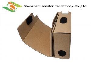 China Kraft 3D Glasses DIY Cardboard VR Headset With Biconvex Lens Glasses / Silk - Screen Logo on sale