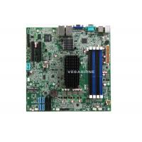 China 4 Gigabit LAN 4 SATA2.0 , 4 SATA3.0 network storage server Motherboard with Intel® Atom C2550 CPU on sale