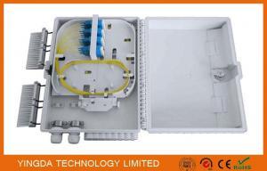 China White 16 Port Outdoor Fiber Optic Termination Box IP65 PC+ABS Plastic 1X16 Splitter Box supplier