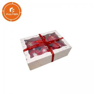 China Design Custom Individual Cupcake Holder Paw Print Box For Cake Packaging on sale