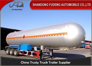 China 10 Wheelers LPG LNG Fuel Transfer Trailer 3*13 Ton FUWA Axles Carbon Steel Tank on sale