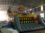 New Inflatable Construction Themed Obstacle Course PVC Inflatable Obstacle Course Outdoor Games