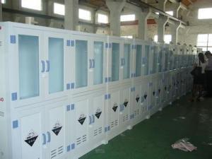 China Custom Hospital Corrosive Medical Storage Cabinet PP Polypropylene , 6 Doors on sale