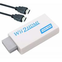 Wii to HDMI Converter Adapter with 3ft High Speed HDMI Cable Wii2HDMI Adapter Output Video Audio with 3.5mm Jack Audio