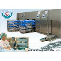 China Front Loading Sliding Door Hospital Steam Sterilizer With High Capacity Water Cooled Condenser on sale