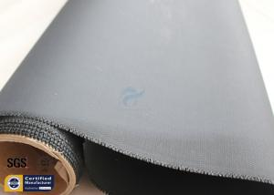 China Acrylic Coated Fiberglass Fire Blanket Cloth 530GSM 0.43mm Black 500℉ 39 50M on sale