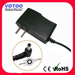 China Wall Plug AC DC Power Adapter 1A 110v - 220v Over Voltage Protection on sale