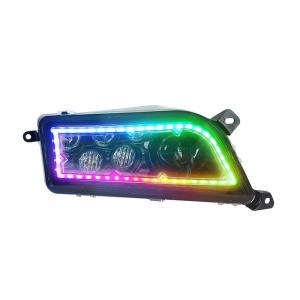 China 30W Multi Color Polaris General LED Headlights , RGB Drl Halo Projector Headlights on sale