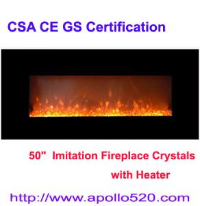China Black Wall Mount Electric Fireplaces on sale