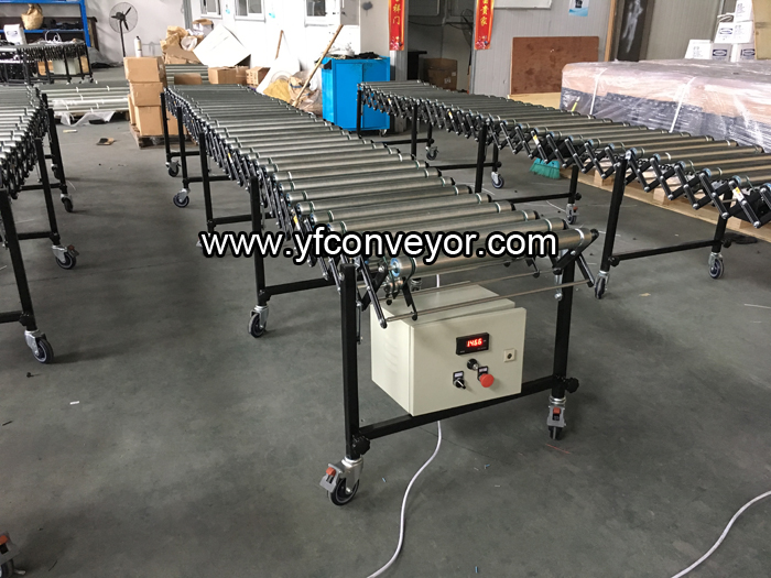Expandable Powered Roller Conveyor Motorized Flexible