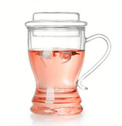 China Handmade Borosilicate Glass cup with cover for tea on sale