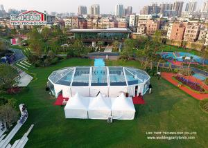China Transparent Mix Structure 500 People outdoor party tent  for outdoor temporary catering on sale