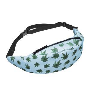 China Unisex Marijuana Weed Leaf Fanny Pack single Shoulder Bag Waist Bag Phone Holder Adjustable Running Belt For Cycling on sale