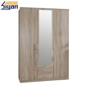 China PVC Moulded Bifold Bedroom Closet Doors , MDF Flat Closet Doors Textured Surface on sale