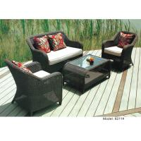China 4-piece patio outdoor  resin Wicker classic Deep Seat Sofa with Cushion -9211 on sale