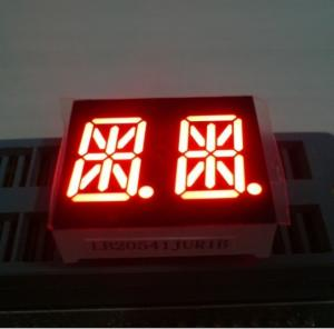 China Ultra Red 0.54 Inch Dual Digit 14 Segment Led Display Common Anode on sale